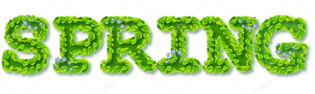 Text decorative SPRING