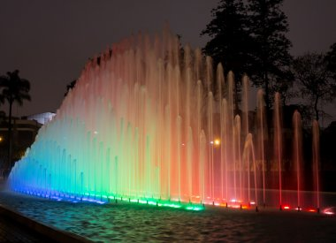 Magical Water Circuit in Reserve Park Lima Peru