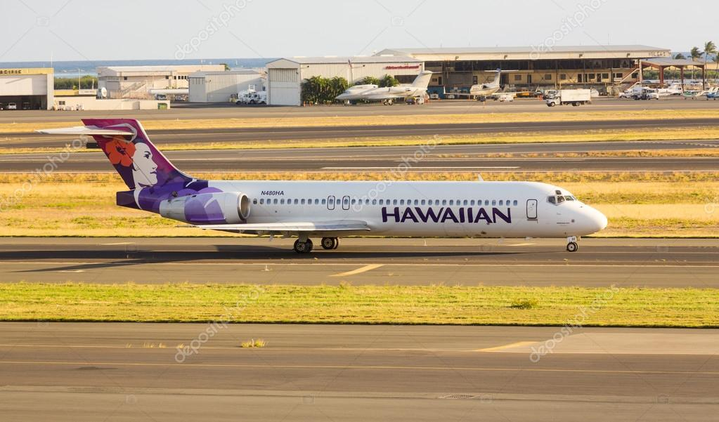havaiana avião boeing 717 fotografia de stock editorial