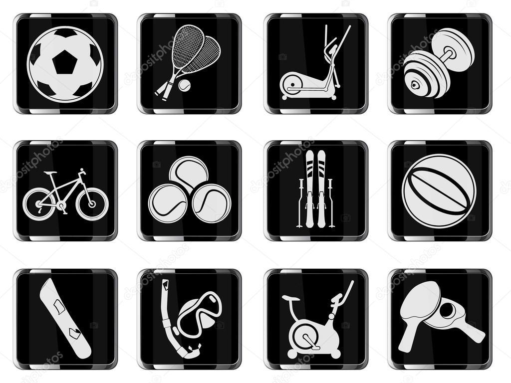 sportovní vybavení symboly — Stock Vektor © ayax55  47580563 c031968ac79