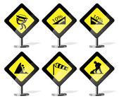 silniční znak ikony