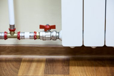 Pipelines of central heating radiator
