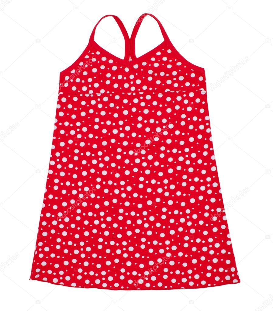 Vestido de lunares rojo y blanco
