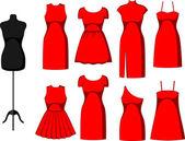 különböző koktél- és estélyi ruhák