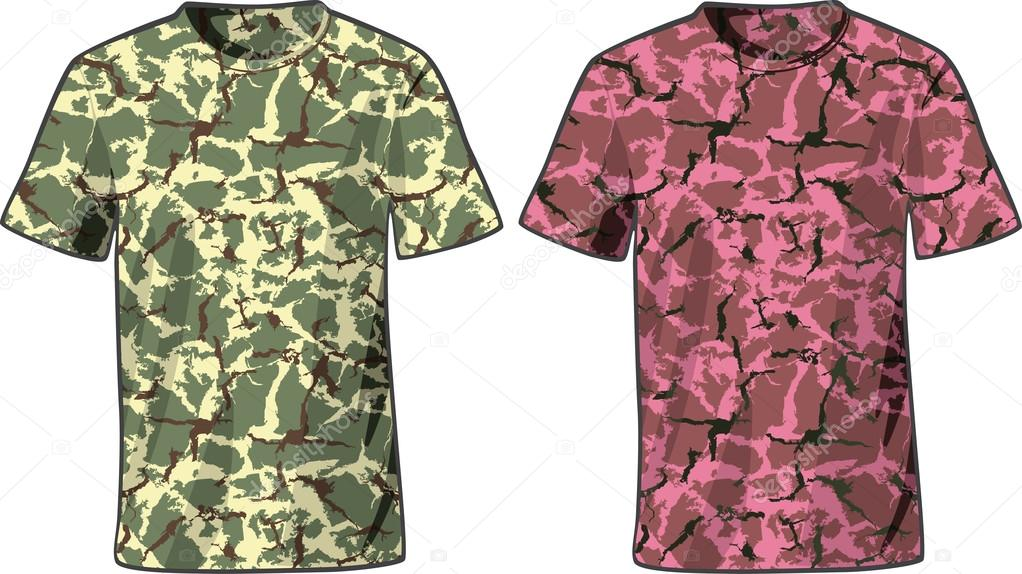 men s military shirts front view template vector stock vector