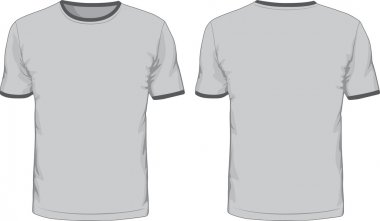 Mens t-shirts template. Front and back views