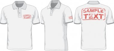 Front, back and side views of polo-shirt. Vector  illustration stock vector