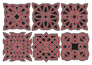 Set of vector celtic design elements