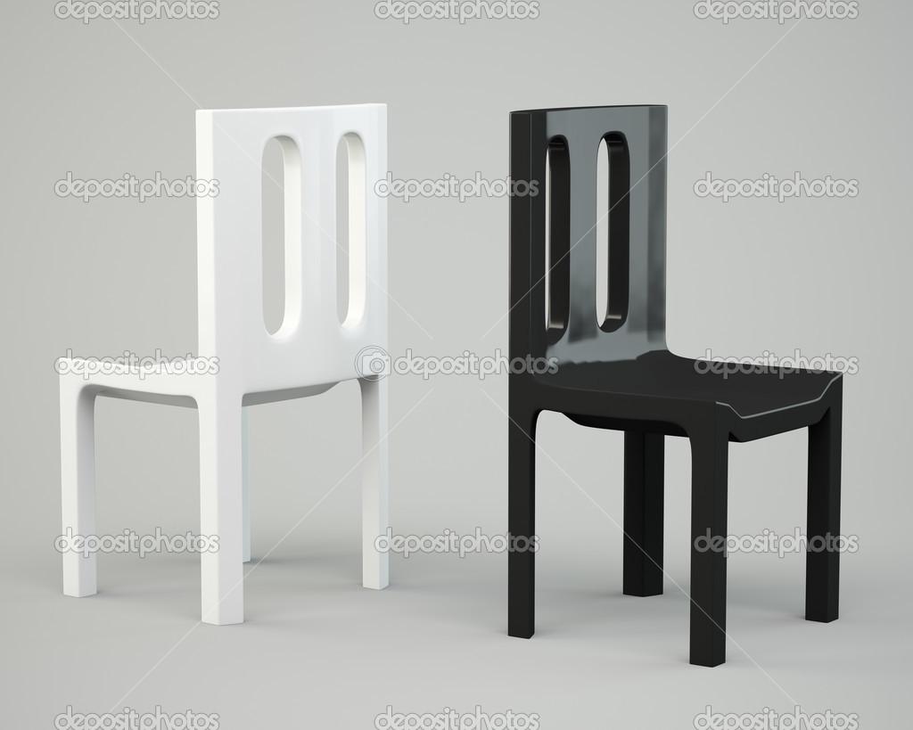 Weißer Und Schwarzer Stuhl Stockfoto Andkud 22917774