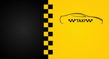 Racing orange background, taxi cab cover template. Vector 10eps