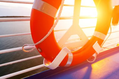 Life Buoy on a Cruise Ship