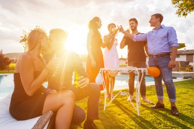 Group of Friends Toasting at Party