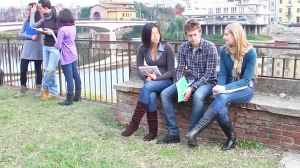 College Students Talking Outside