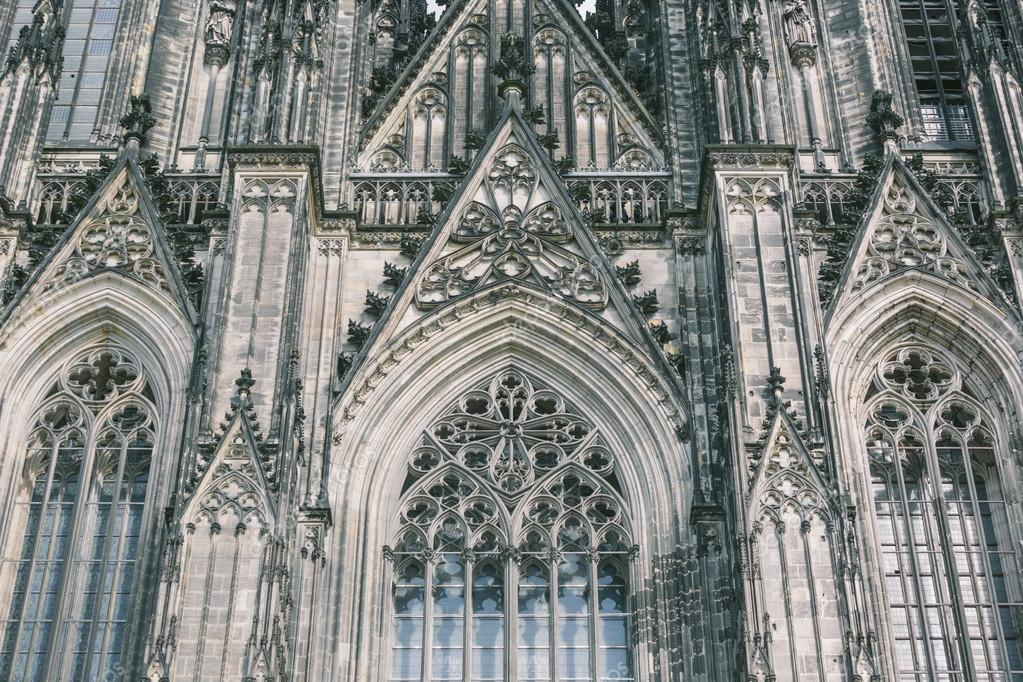 Beautiful Cologne Gothic Cathedral Facade Photo By William87