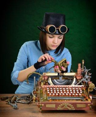 Typewriter repair.