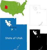 Fotografie Utah-Karte