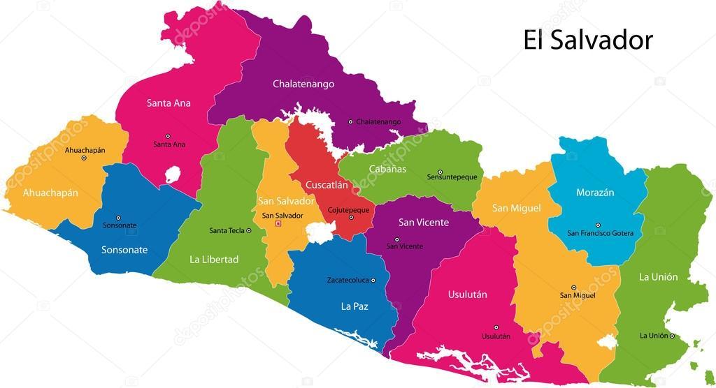 El Salvador map Stock Vector Volina 32469065