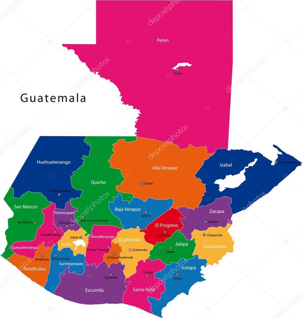 Guatemala map — Stock Vector © Volina #32469753