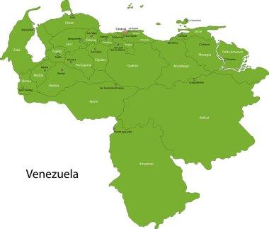 Green Venezuela map