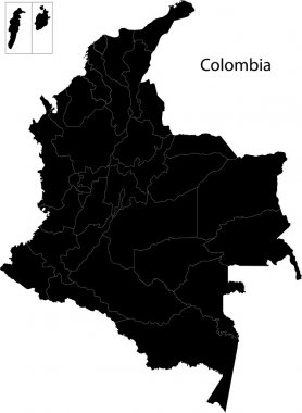 Black Colombia map