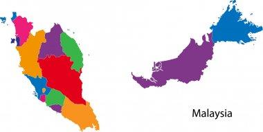 Colorful Malaysia map