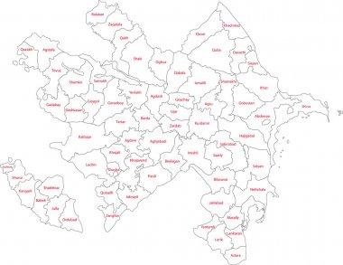 Contour Azerbaijan map
