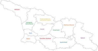 Contour Georgia map