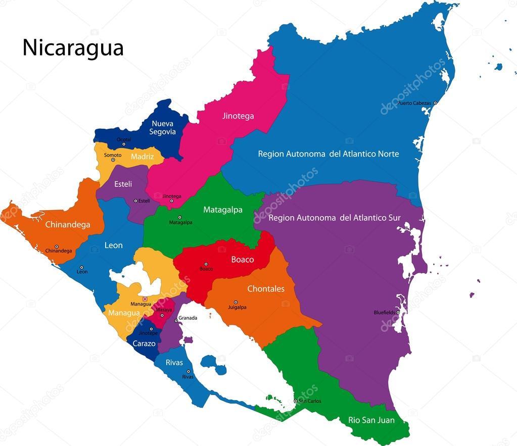 Nicaragua map Stock Vector Volina 32470815