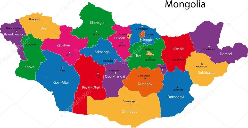 Mongolia map Stock Vector Volina 32471787