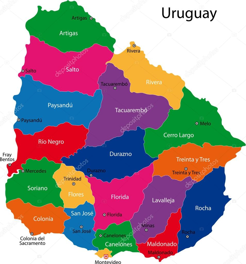 Uruguay map Stock Vector Volina 32472403