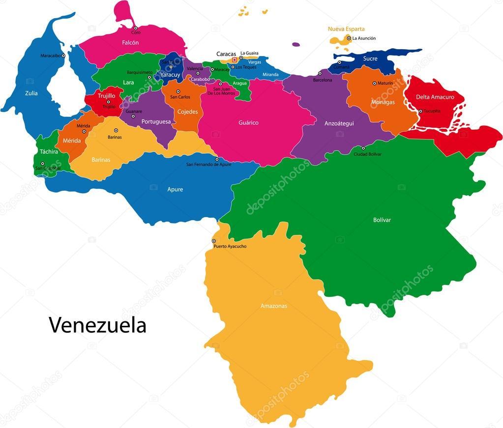 venezuela mapa mapa de Venezuela — Archivo Imágenes Vectoriales © Volina #32472971 venezuela mapa
