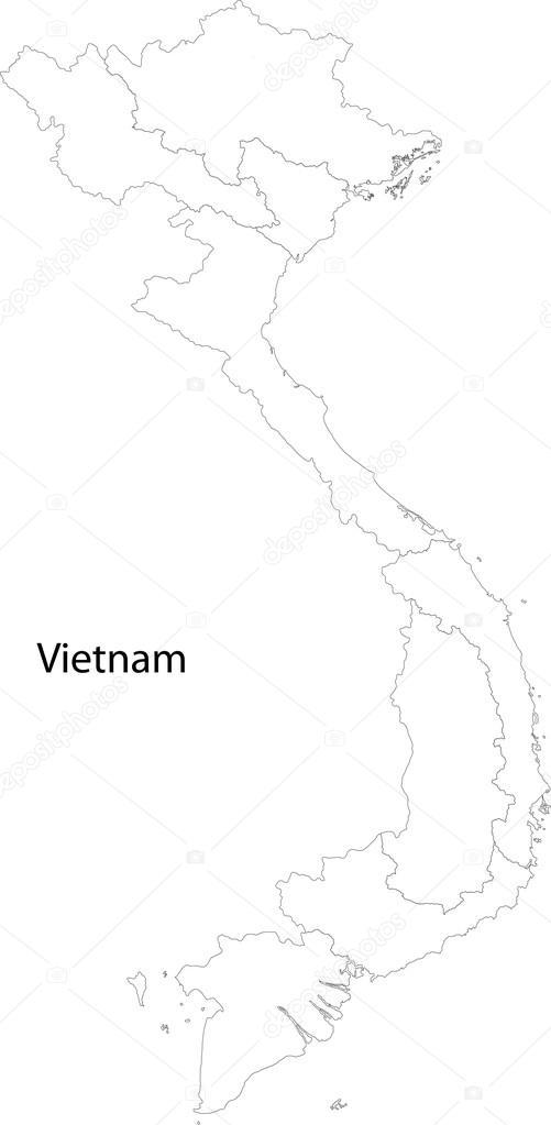 Vietnam Outline Stock Vectors Royalty Free Vietnam Outline - Vietnam map outline