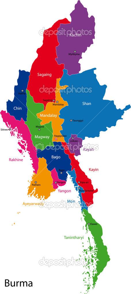 Carte Birmanie A Telecharger.Carte De Birmanie Image Vectorielle Volina C 32475689