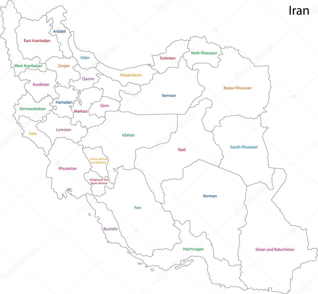 Iran Map Stock Vector Volina - Iran map