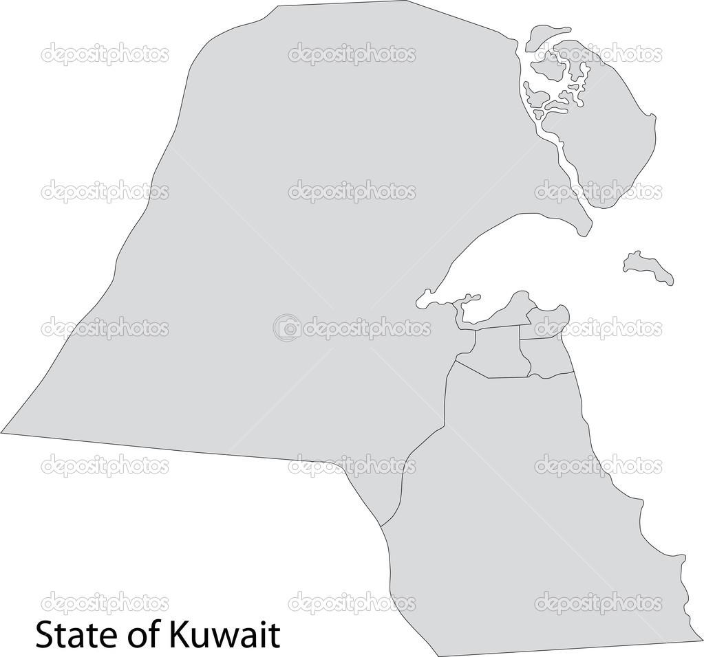 Grey Kuwait map Stock Vector Volina 32482787