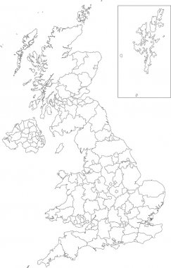 Outline United Kingdom map
