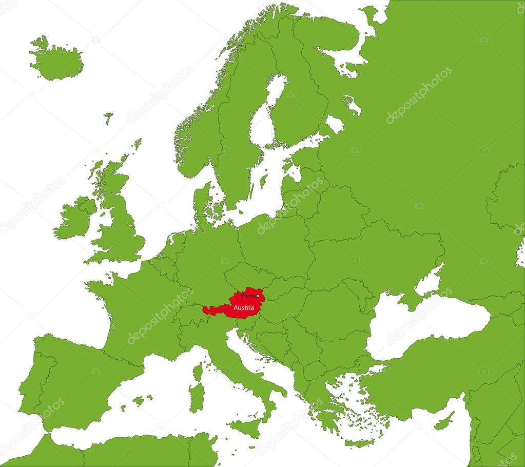 karta österrike Österrike karta — Stock Vektor © Volina #32495681 karta österrike