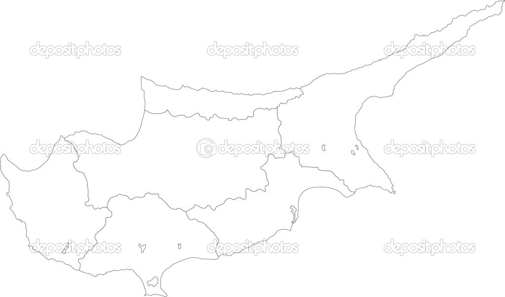 Cyprus map Stock Vector Volina 32495879