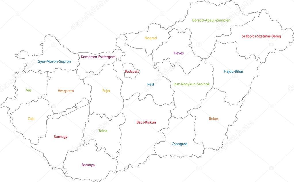 magyarország térkép körvonal Magyarország térképének körvonala — Stock Vektor © Volina #32496337 magyarország térkép körvonal
