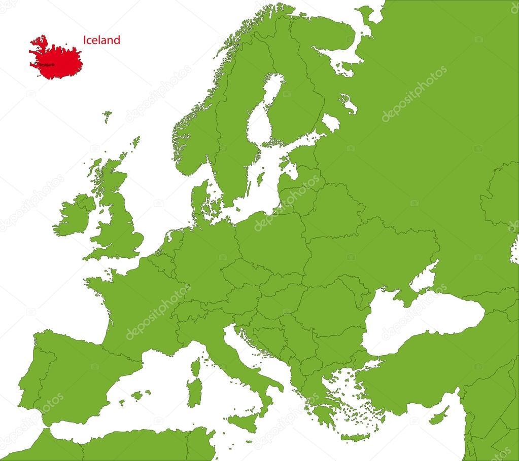 karta island Island karta — Stock Vektor © Volina #32496469 karta island
