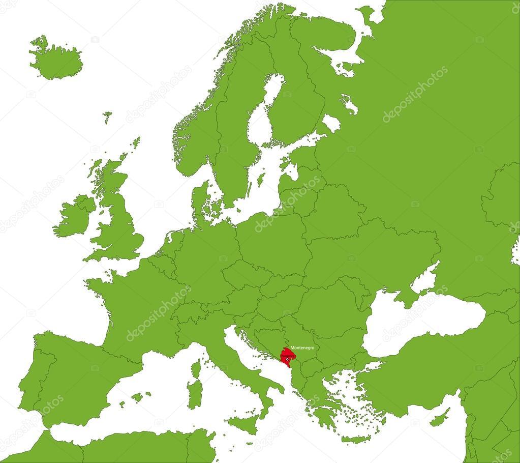 Montenegro Map Stock Vector Volina - Montenegro map download