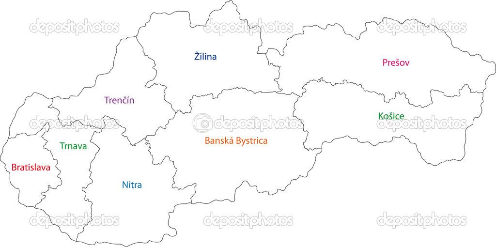 Outline Slovakia map — Stock Vector © Volina #32497335
