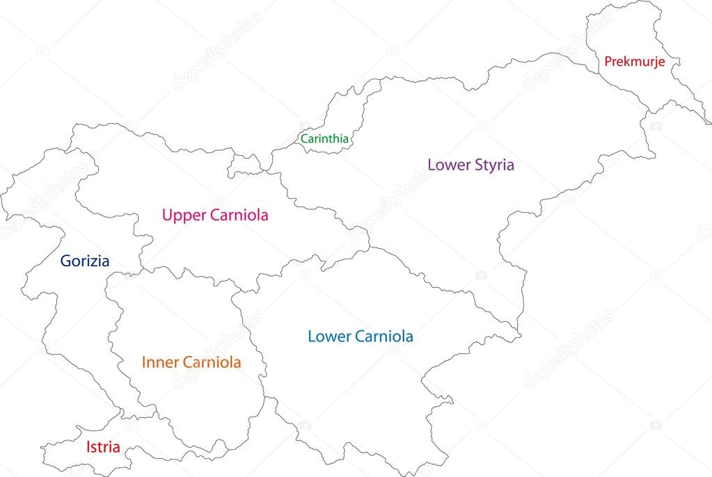 Outline Slovenia map Stock Vector Volina 32497343