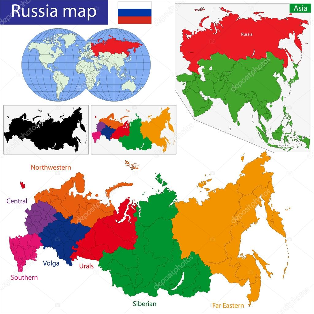 Picture of: Russia Map Stock Vector C Volina 37149527