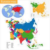 Fotografie Eurasie mapa