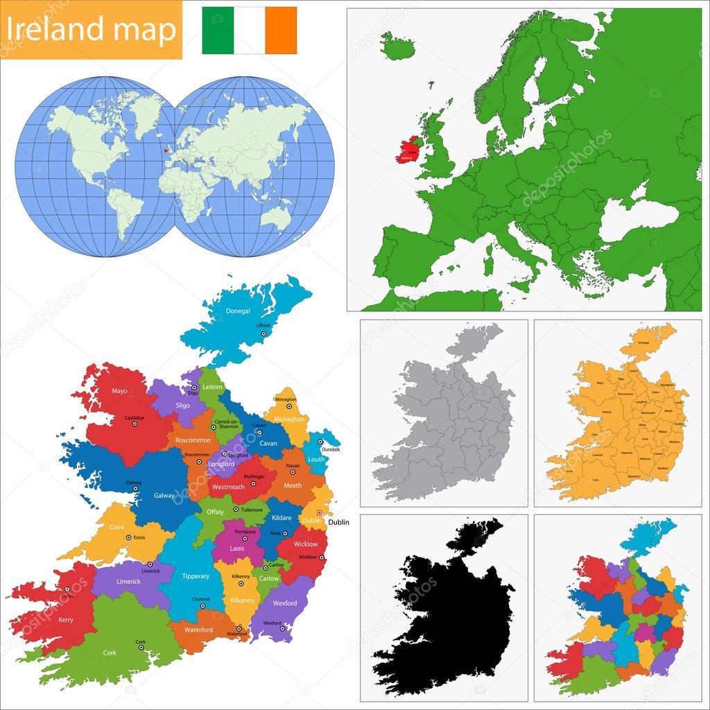 アイルランドのマップ — ストッ...