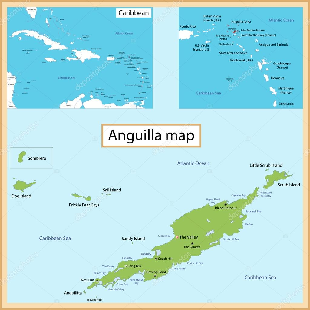 Anguilla Map — Stock Vector © Volina #51114551 on map of montserrat, map of st barts, map of martinique, map of caribbean, map of antigua, map of st maarten, map of jamaica, map of french southern territories, map of aruba, map of the bahamas, map of the south sandwich islands, map of dominica, map of guadeloupe, map of cuba, map of st martin, map of argentina, map of barbados, map of costa rica, map of nepal,
