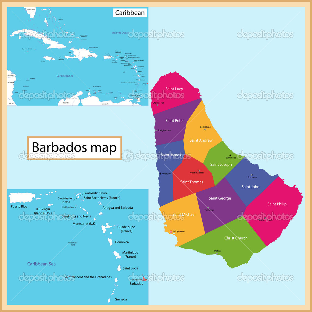 Barbados Map Stock Vector Volina 51114587