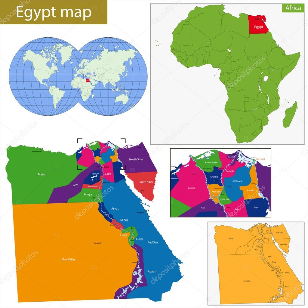 Image of: ᐈ Map Of Africa With The Nile River Stock Vectors Royalty Free Egypt Map Illustrations Download On Depositphotos