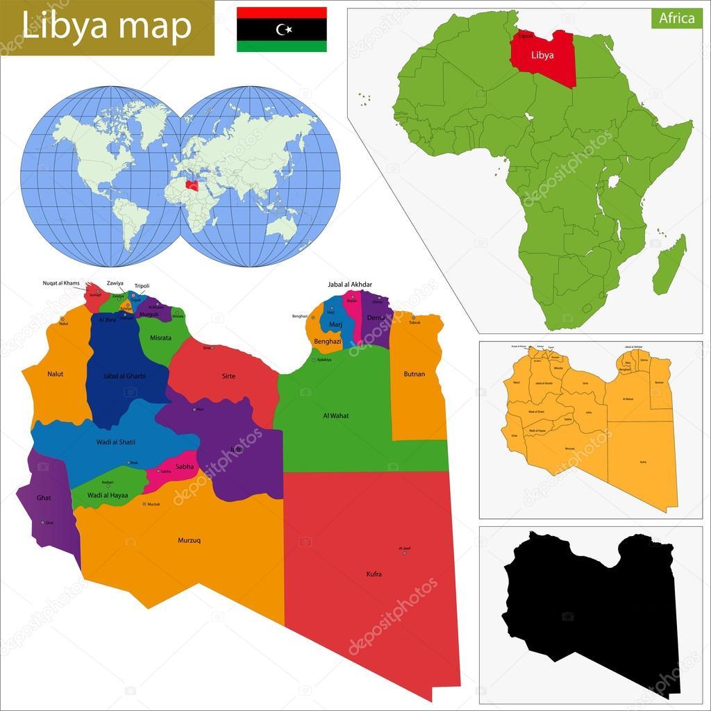 Libya map Stock Vector Volina 51750271
